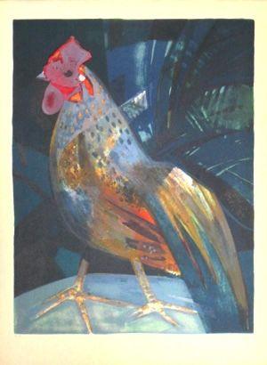 Litografía Hilaire - Le grand coq