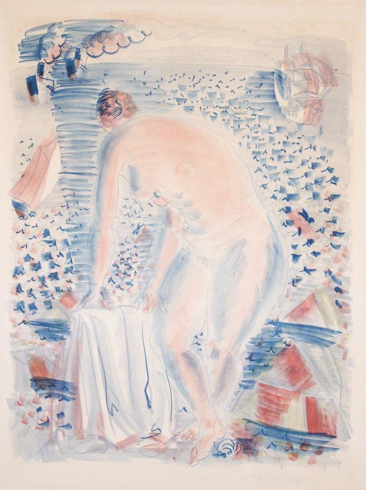 Litografía Dufy -  Le grande Baigneuse (The large Bather)