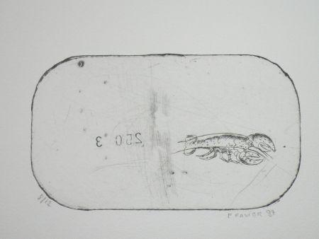 Aguafuerte Favier - Le homard (série des mousselines)