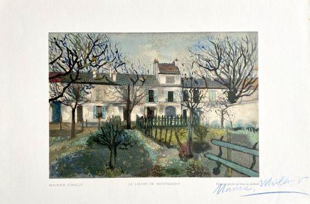Grabado En Madera Utrillo - Le Jardin de Montmagny