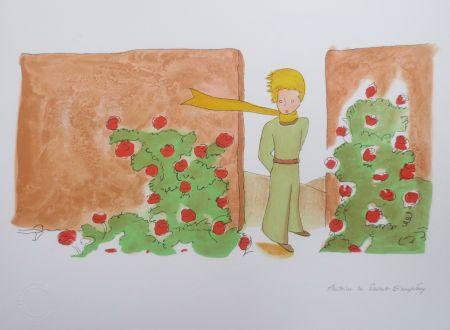 Litografía Saint-Exupéry - Le jardin des roses