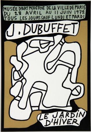 Litografía Dubuffet - Le Jardin D'Hiver Musee d'Art Moderne de Paris