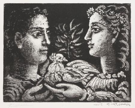 Litografía Picasso - Le Jeneusse