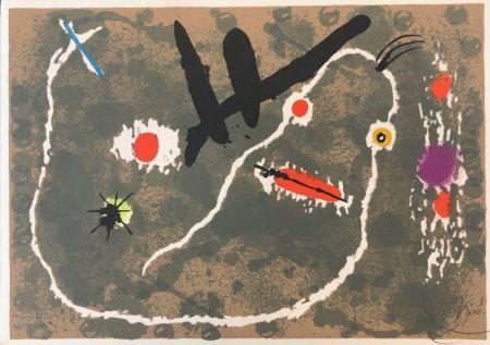 Litografía Miró - Le Lézard aux plumes d'or