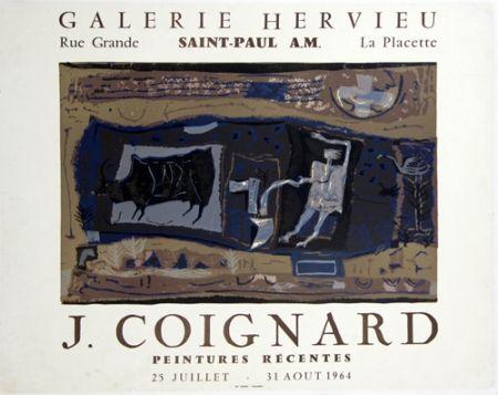 Litografía Coignard - Le Laboureur Galerie Hervieu Saint Paul