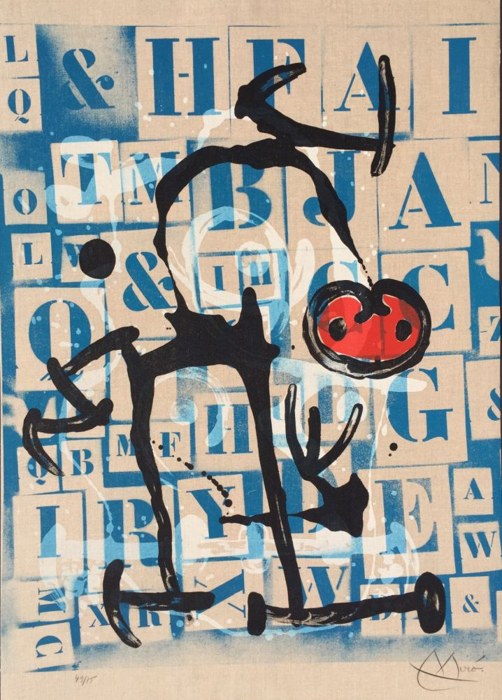 Litografía Miró - Le Lettre - Rouge