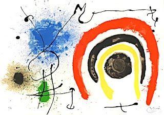 Litografía Miró - Le lezard aux plumes d'or
