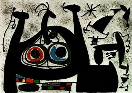 Litografía Miró -  Le Lezard aux plumes d'or - Arc-en-ciel  - (Maeght 818)