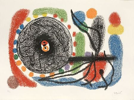 Litografía Miró - Le Lezard aux plumes d'or (The Lizard with Golden Feathers), Pl. 10