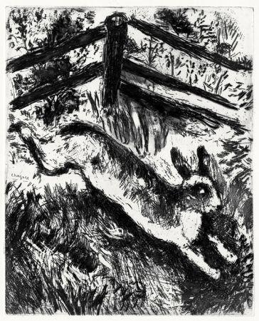 Aguafuerte Chagall - Le Lièvre et les Grenouilles, 1927-1930