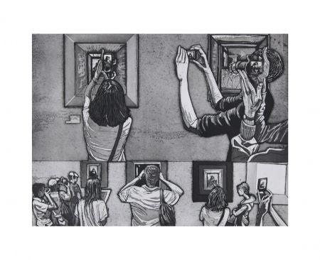 Aguafuerte Y Aguatinta Collin - Le Louvre salle 38 - Vermeer