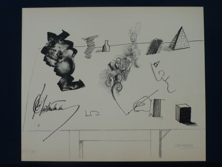 Litografía Steinberg - Le masque ,1966