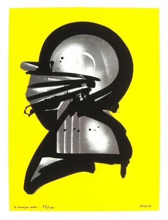 Litografía Kijno - Le masque noir