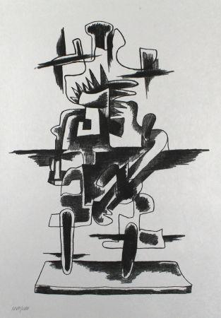 Litografía Zadkine - Le merveilleux radeau