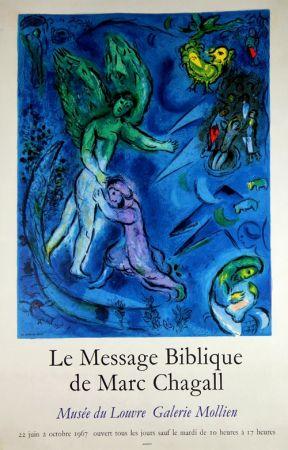 Litografía Chagall - Le Message Biblique Musee du Louvre Galerie Mollien