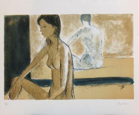 Litografía Bardone - Le miroir