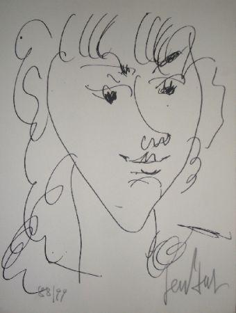Litografía Paul  - Le modèle, portrait de Lola