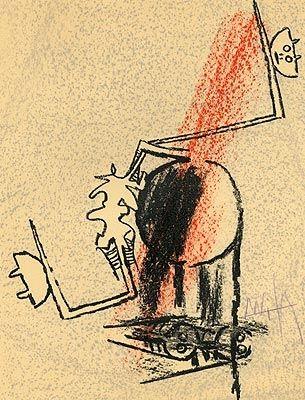 Litografía Lam - Le Monde de l'art...