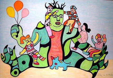 Litografía De Saint Phalle - Le monstre