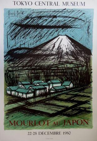 Litografía Buffet - Le mont Fuji et ses rizières