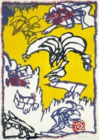 Litografía Alechinsky - Le mythe de Cobra