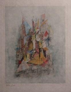 Grabado Wols - Le navire dans la ville