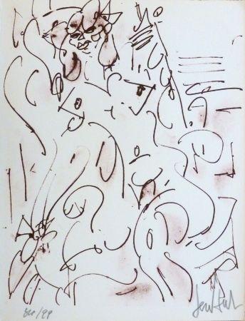 Litografía Paul  - Le nu assis