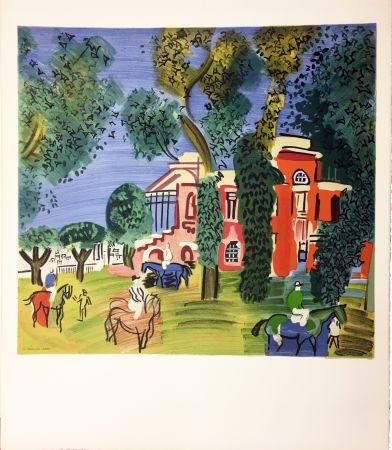 Litografía Dufy - LE PADDOCK À DEAUVILLE (1930)