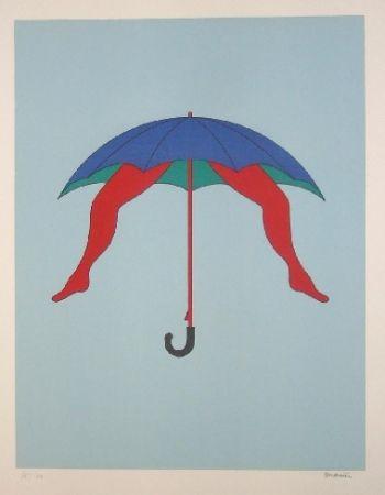 Litografía Marien - Le parapluie