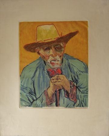 Aguafuerte Y Aguatinta Villon - Le paysan (d'après Van Gogh)