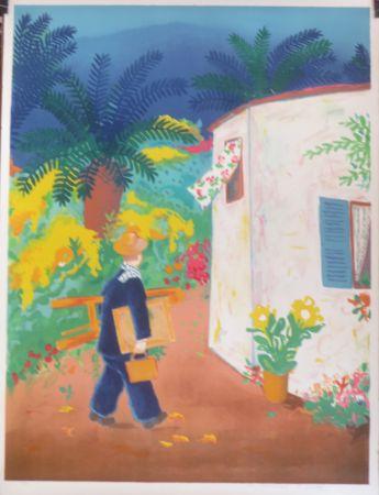 Litografía Jirlow - Le peintre