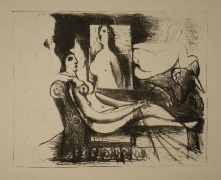 Litografía Picasso - Le peintre et son modèle / Der Maler und sein Modell