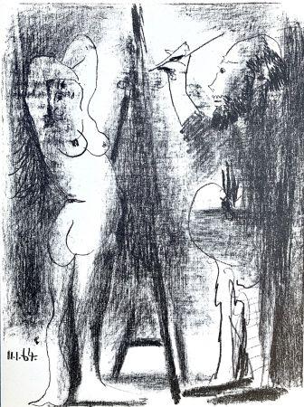 Litografía Picasso - Le Peintre et son modele