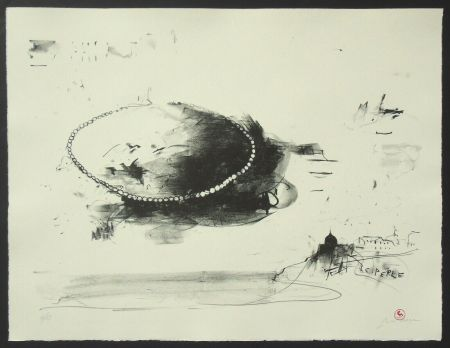 Litografía Pizzi Cannella - Le perle