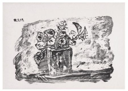 Litografía Picasso - Le Petit Pot de Fleurs