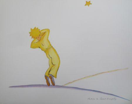 Litografía Saint-Exupéry - Le petit prince et l étoile