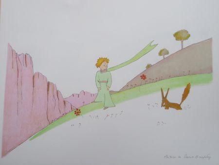 Litografía Saint-Exupéry - Le petit prince et le renard