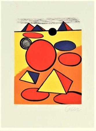 Litografía Calder - Le Petite Pyramids