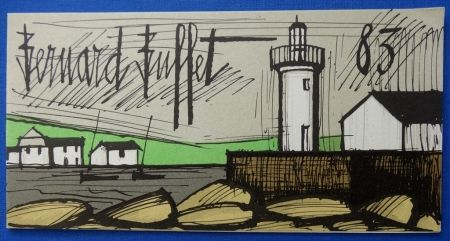 Litografía Buffet - Le phare