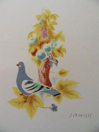 Litografía Cavailles - Le Pigeon