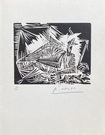Linograbado Picasso - Le Pigeonneau