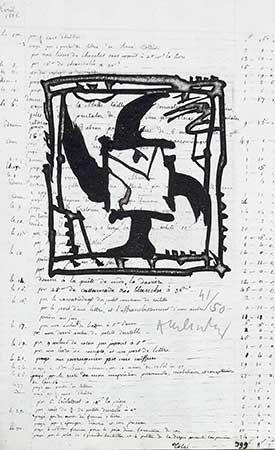 Grabado Alechinsky - Le Pinceau Même