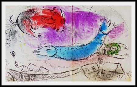Litografía Chagall - LE POISSON BLEU