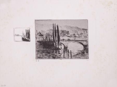 Litografía Pissarro - Le Pont Corneille