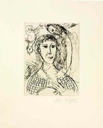 Grabado Chagall - Le Portrait Du Peintre