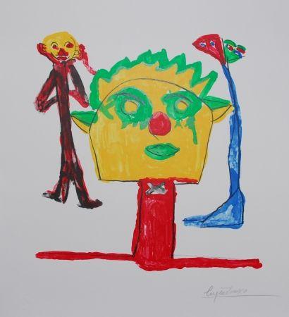 Litografía Ionesco - Le portrait et ses fils