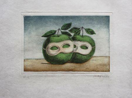 Aguafuerte Y Aguatinta Magritte - Le Prêtre Marie