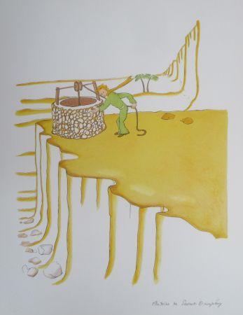 Litografía Saint-Exupéry - Le puits dans le désert