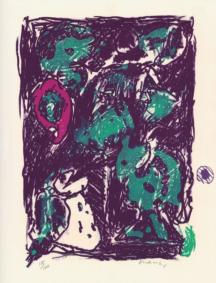 Litografía Alechinsky - Le rare heureux