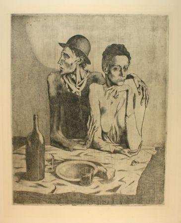 Grabado Picasso - Le repas frugal